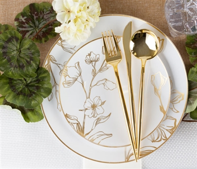 elegant disposable dinnerware for wedding