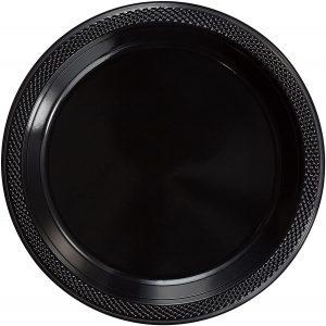 Black plastic plates 10 inch