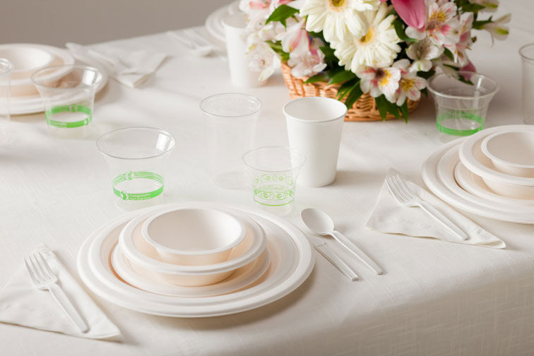 wholesale plastic dinnerware weddings